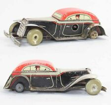 VOITURE COUPE LITHOGRAPHIEE   /  jouet ancien antique toy