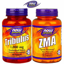 NOW Tribulus Terrestris 90Tabl + ZMA 90Caps Testosterone Booster Muscles Growth