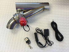 "3"" ELECTRIC EXHAUST CATBACK DOWNPIPE CUTOUT E-CUT OUT VALVE SYSTEM KIT& REMOTE"