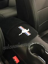 Ford Mustang 2015 16  Center Console Cover %100 Black Heavy Cotton Terry Velour