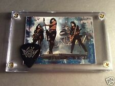 Great Gift KISS official Sonic Boom guitar pick / group card display!!!