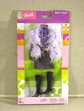 RARE! 2003 Barbie BEAT STREET Fashion Pack ~ Denim & Purple Boa Ensemble