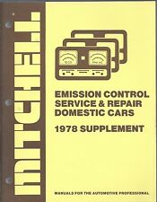 1978 Mitchell Emission Control Service Repair Supplement Domestic Cars