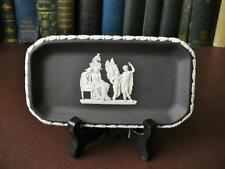 Vintage Wedgwood Black Basalt Pin Tray