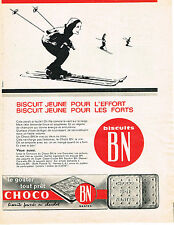 PUBLICITE ADVERTISING 054  1962   CHOCO BN   biscuits fourrés au chocolat