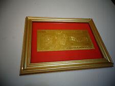 24 KARAT 99.9% GOLD USA *2009 *$20 DOLLAR BILL -FRAMED- LIMITED EDITION, RARE