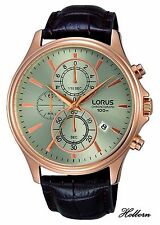 Lorus Gents Watch Rose Gold Style Sports Chronograph RM318DX9. 2 Yr Warranty.