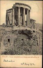 Tivoli Italien Italia Latium 1903 Tempel der Vesta Tempio Ruinen Säulen Gebäude