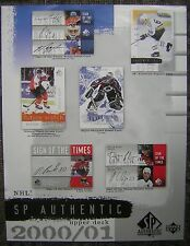 "2000/01 Upper Deck NHL SP Authentic 8x11"" Advertising Sell Sheet - Gretzky, Roy"