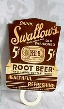 1941 Drink Swallow's Old Fashion, Keg Root Beer Bottle Topper, Never Used
