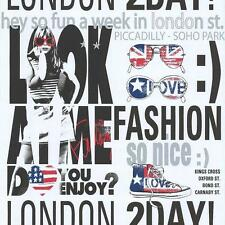 NEW GALERIE YOLO LONDON UK USA TYPOGRAPHY SILVER GIRL FASHION WALLPAPER 51140201