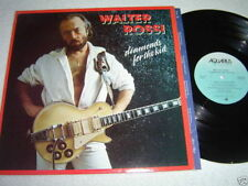 WALTER ROSSI Diamonds For The Kid LP 1980 Aquarius Records Canada Guitar VG+/VG+