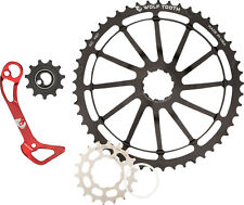 Wolf Tooth Components WolfCage Pack 49T Cog, 18T Cog, and Derailleur Cage, Red