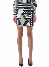 PREEN BY THORNTON BREGAZZI - Kahia Short Stripe skirt in Black