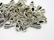 50 Pcs - Tibetan Silver Fancy Jewellery Bails Hollow Style Findings 13mm S142