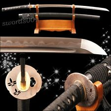 FULL TANG Battle ready samurai sword damascus steel clay tempered katana SHARP