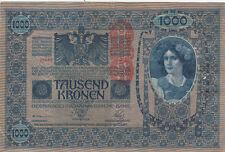 Billet banque AUTRICHE AUSTRIA 1000 KRONEN 1902 état voir scan 952