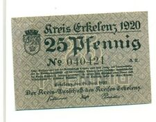 OLD GERMANY EMERGENCY PAPER MONEY - NOTGELD Erkelenz 1920 25 Pf