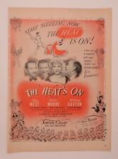 Original Print Ad 1943 Movie AdXavier Cugat THE HEAT'S ON Mae West Victor Moore