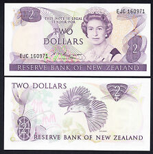 NEW ZEALAND 2 Dollars Russell P. 170b QEII Note GEM  UNC $2 Prefix