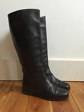NEXT LADIES BLACK LEATHER KNEE HIGH RIDDING BOOTS UK4