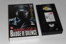 VHS Video ~ Maniac Cop 3 Badge of Silence ~ Original Large Case ~Medusa Pictures