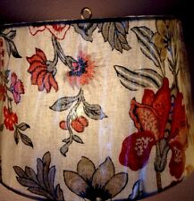 Pottery Barn Allegra Palampore Tapered Drum Lamp Shade Linen New Small