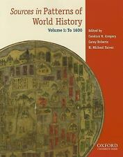 Sources in Patterns of World History: Volume One To 1600