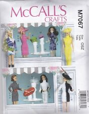 "McCALL'S SEWING PATTERN CRAFT CLOTHES ACCESSORIES FOR 11 1/2"" DOLL  M7067"