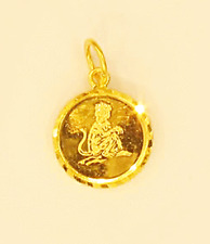 22k 22kt pendant zodiac MONKEY chinese sign charm # 74