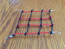 Scale Roof Cargo Net For AXIAL SCX10..RC4WD..WRAITH.. All RC RIGS Red & Black
