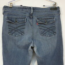 Levi's 545 Low Boot Cut Jeans w Button Down Pockeets Red Tab Size 16