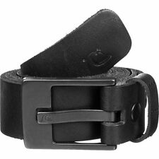 NEW* QUIKSILVER SURF BELT Buffalo Leather MENS XL 38 Section Black