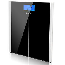 Etekcity® 400lb LCD Digital Bathroom Body Weight Scale Tempered Glass +Batteries