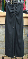 Joseph Ribkoff UK 10Beautiful & Unusual Black Trousers Layer Skirt Diamante Ties