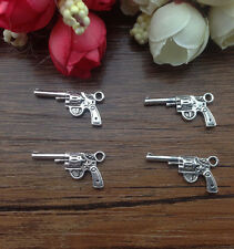 Wholesale 10pcs Tibet silver Pistol Charm Pendant beaded Jewelry Findings !!!!