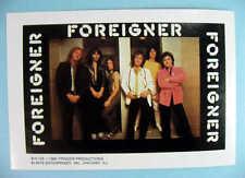 FOREIGNER 1980 Mini-Poster Photo Sticker