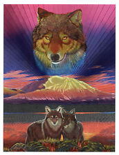 "Dufex Foil Picture Print - Wolf by Gabriele Berndt - size 6"" x 8"""