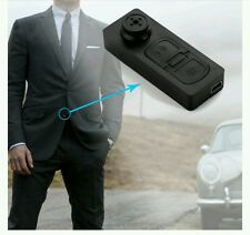 Testimone SEGRETO MINI Camicia Button SPY CAMERA TELECAMERA NASCOSTA VIDEO DVR VIDEOCAMERA