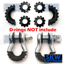 "Black Isolator Washers 1 Pair Kit Set Silencer Clevis for 3/4"" D-ring Shackles"