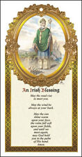 SAINT PATRICK WOODEN PLAQUE IRELAND - CATHOLIC CANDLES STATUES PICTURES LISTED