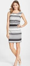 NWT - Betsey Johnson - Black Ivory Stretch Sleevelesss Shift Dress -Sz: 10