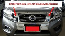 CHROME FRONT GRILLE COVER FOR NISSAN NAVARA/NP300 2015 INSTALL WITH 3M TAPE