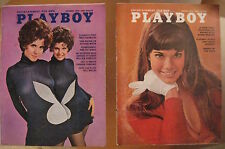 Lot of *12* Vintage **PLAYBOYS!** 1965-1972 Bond Girls/Twins/Barbi Benton++++