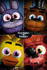 Five Nights at Freddy's Poster - QUAD - New gaming poster FP4228