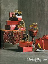 Publicité 2012 Salvatore Ferragamo collection bague bracelet bijoux joaillier