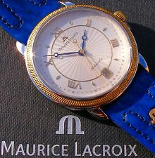 """Super-seltene Maurice Lacroix - LES MÉCANIQUES """"Date"""", Stahl-/18K-Massivgold"""