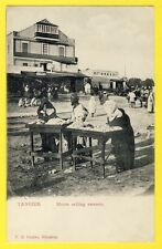 CPA 1900 MAROC MOROCCO TANGER TANGIER MOORS SELLING SWEETS MARCHANDS de BONBONS
