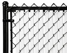 Chain Link White Double Wall (Tube) Privacy Slat For 7ft High Fence Bottom Lock