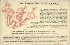 Military Political Propaganda - French/German WWI LE RETOUR DE VON KLUCK pc